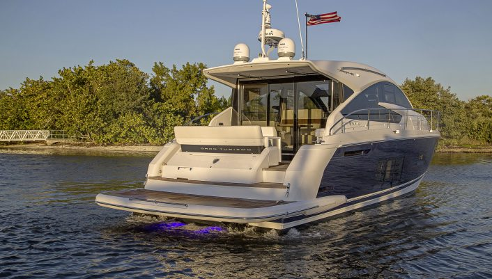 Fairline Targa 48 Grand Tourismo Acqua running off Miami FL