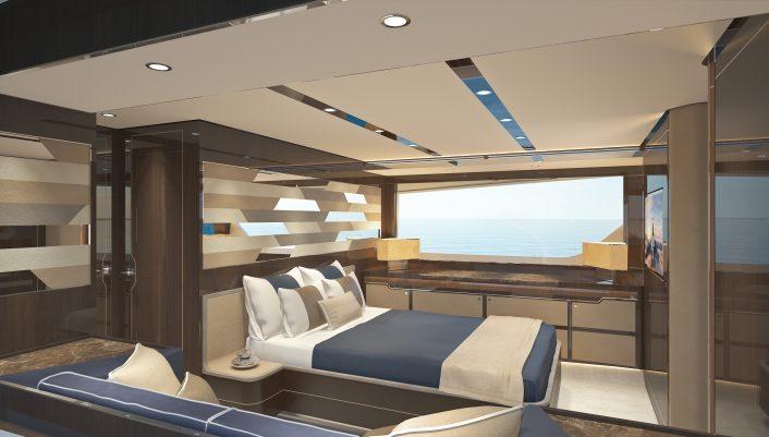 Targa 63 GTO Interior CGI Master Cabin 02