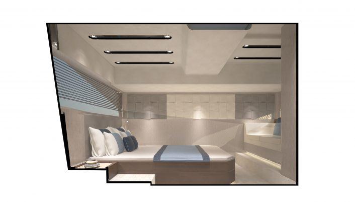 Targa 43 Open Interior Mid-Master light2